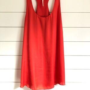 RACHEL Rachel Roy Coral Mini Dress w/ Racerback